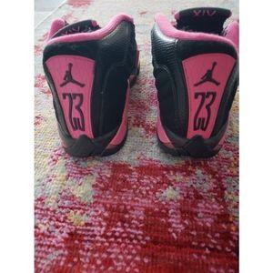 Girls Air Jordan 14 Retro GS Black Desert Pink